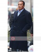 Arnold Schwarzenegger Navy Blue Trench Coat
