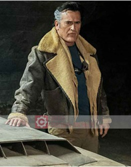 Ash Vs Evil Dead Bruce Campbell Shearling Leather Jacket