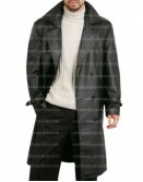 FBI Agent Detective Style Trench Leather Coat