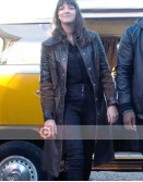 Kat And The Band Ella Hunt Leather Coat