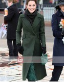 Kate Middleton Green Trench Wool Coat