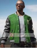 PUBG Green Varsity Bomber Costume Leather Jacket