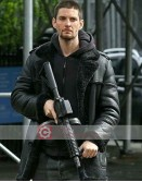 The Punisher Ben Barnes Shearling Leather Jacket