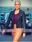 Ashley Roberts Woman Up Black Leather Jacket