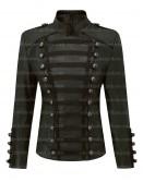Olivia Palermo Napoleon Military Style Black Women Leather Jacket