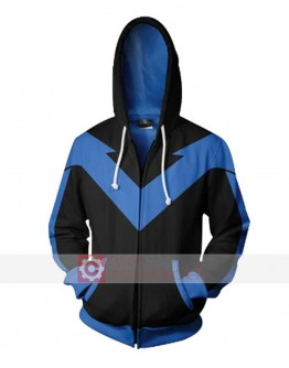 Batman Arkham Knight Dick Grayson (Nightwing) Hoodie Jacket