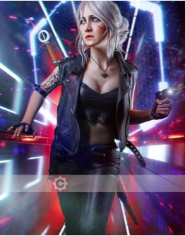 Cyberpunk 2077 Ciri Costume Leather Vest