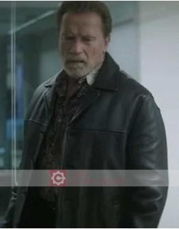 Aftermath Arnold Schwarzenegger (Roman) Leather Jacket