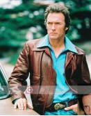 Dirty Harry Clint Eastwood Brown Leather Jacket