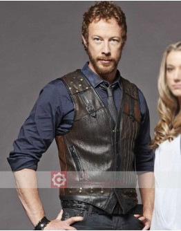 Lost Girl Kris Holden-Ried (Dyson Thornwood) Leather Vest