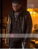 Power 50 Cent (Kanan) Black Shearling Leather Jacket
