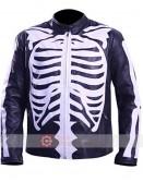 Halloween Skeleton Black Costume Leather Jacket