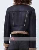 Heart Radio Kelly Brook Black Leather Jacket