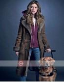 In The Dark Murphy Mason (Perry Mattfeld) Shearling Coat