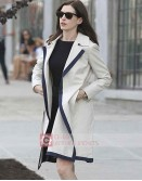 The Intern Jules (Anne Hathaway) White Cotton Trench Coat