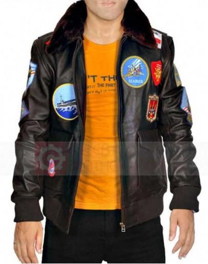 Top Gun Tom Cruise Leather Jacket