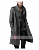 Burberry Style Grey Trench Coat