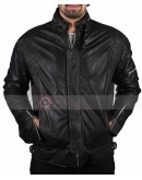 DAFT PUNK ELOCTROMa GET LUCKY BLACK REAL LEATHER JACKET