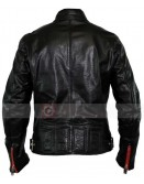 Designer Men L Reed Black Biker Motorcycle Leather Jacket