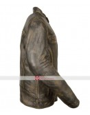 Distressed Wax Men's Biker Vintage Style Cafe Racer Leather Jacket