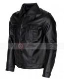 Elvis Presley Black Rockstar Leather Costume Jacket