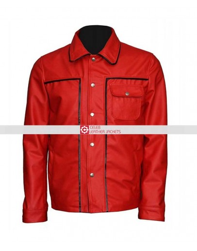 Elvis Presley The King Of Rock Vintage Shirt Collar Red Jacket