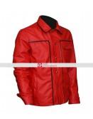 Elvis Presley The King Of Rock Vintage Shirt Collar Red Jacket
