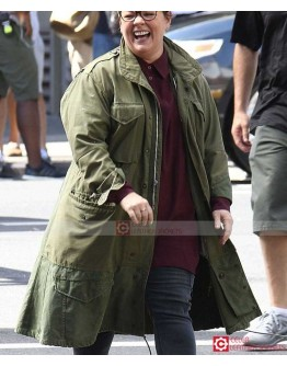 Ghostbusters Melissa McCarthy Abby Yates Green Coat