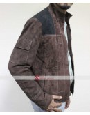Han Solo A Star Wars Story Brown Distressed Suede Leather Jacket