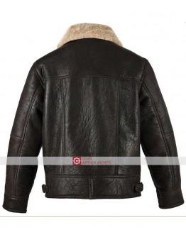 Men RAF Aviator B3 Genuine Cow Leather Jacket