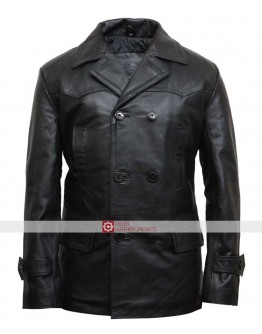Mens KRIEGSMARINE German Submarine WW2 UBoat Genuine Leather Coat