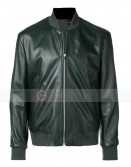 Paul Smith  green bomber slim fit leather jacket