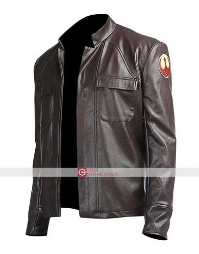 Poe Dameron Star Wars The Last Jedi Brown Jacket