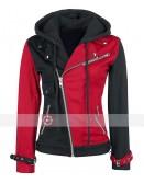 Womens Psychotic Harley Quinn Red & Black Jacket