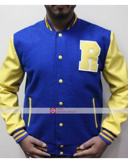 Riverdale KJ Apa Vampire Archie Andrews Yellow Letterman Jacket