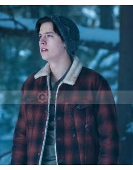 Riverdale Jughead Jones Cole Sprouse Red Fur Jacket