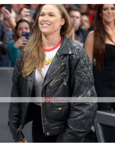 WWE Ronda Rousey (Roddy Piper) Leather Jacket