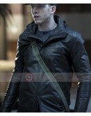 Stark Sands Minority Report Dash Black Leather Jacket