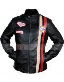 Steve McQueen Gulf Le Mans Biker Racing Jacket