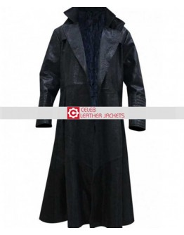 The Matrix Laurence Fishburne Alligator Morpheus Coat