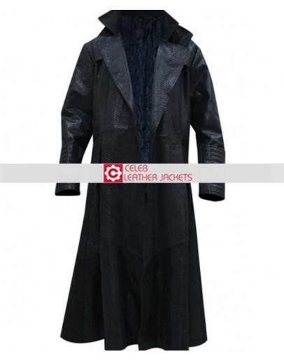 The Matrix Laurence Fishburne Alligator Morpheus Coat