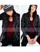 Urban Outfitters Schott Ex Boyfriend Black Leather Moto Jacket