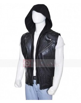 AJ Styles WWE Hoodie Leather Vest