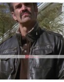 Walking Dead Steven Ogg Simon Black Leather Jacket