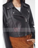 Woman Fashion UO Faux Leather Cropped Moto Biker Jacket