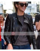 Zara Kendall Jenner Black Leather Jacket