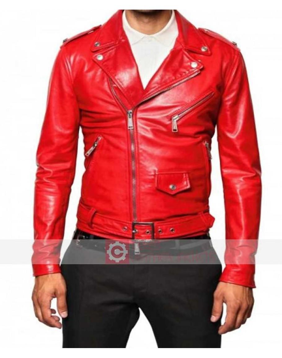 714c69e31 Cafe Racer Brando Biker Vintage Classic Red Motorcycle Leather Jacket