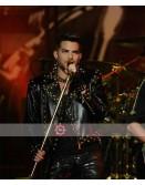 Adam Lambert Concert 2018 Studded Leather Jacket