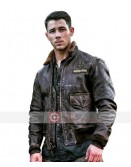 Jumanji Welcome To The Jungle Nick Jonas Fur Collar Jacket