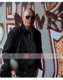American Assassin Stan Hurley (Michael Keaton) Satin Bomber Jacket